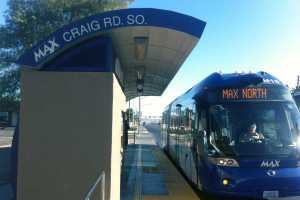 PHOTO BY NICK CHRISTENSEN / METRO NEWS In Las Vegas, the MAX is a bus – a bus rapid transit line opened in 2004.